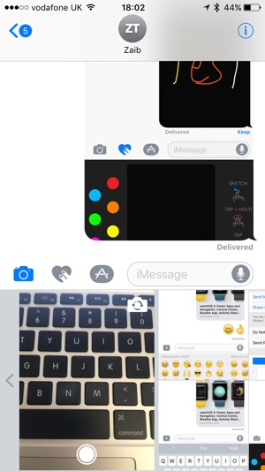 iOS 10 Message Photo sharing