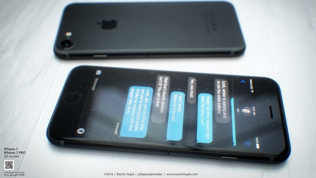 iPhone 7 Dark Space gray concept