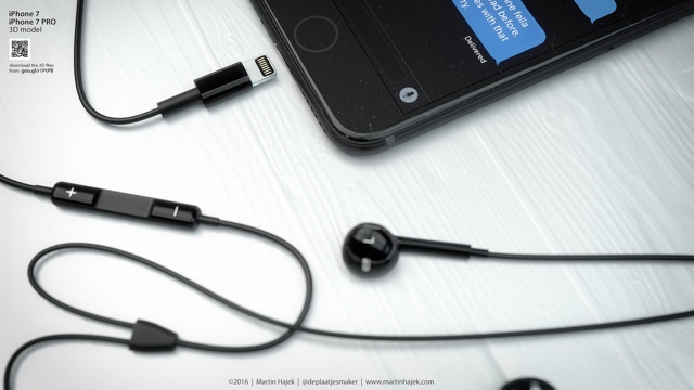 iPhone 7 Space Black headphones