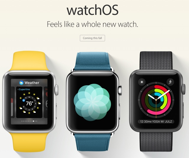 watchOS 3 main