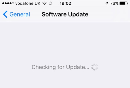 Checking for Updates iOS