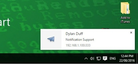 Remote Message Client Notifications