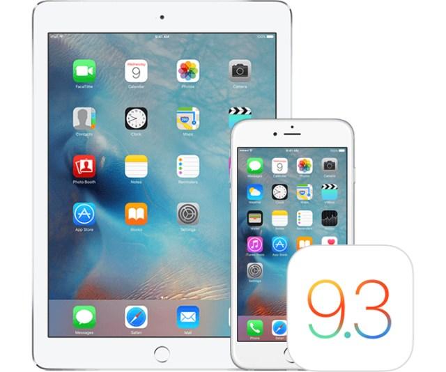 iOS 9.3 Apple