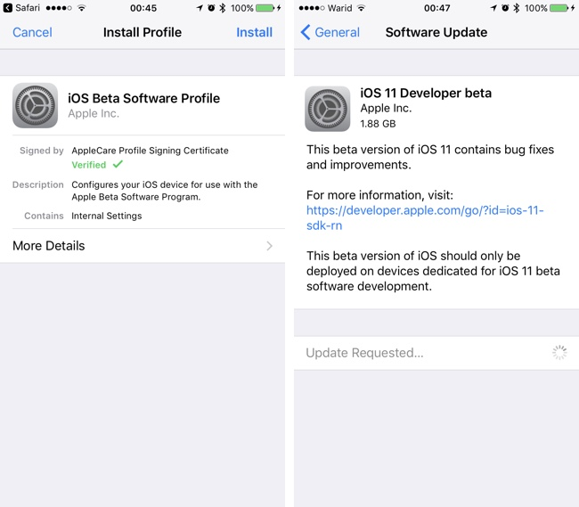 download ios 11 developer beta profile
