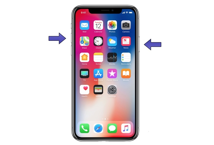 Take Screenshot On iPhone X