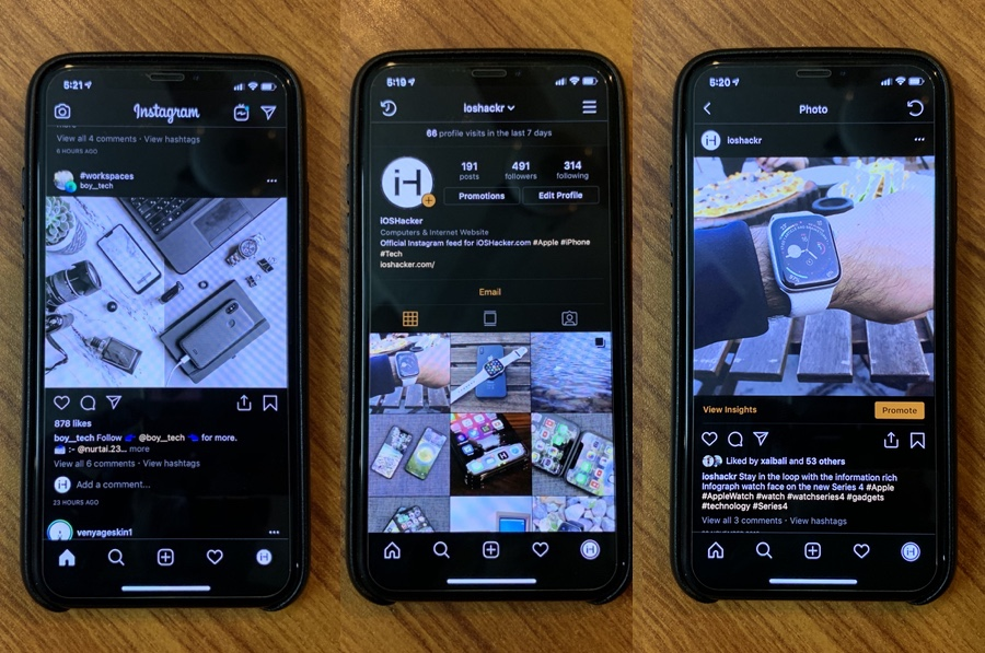 how to get a dark mode in instagram for iphone ios hacker