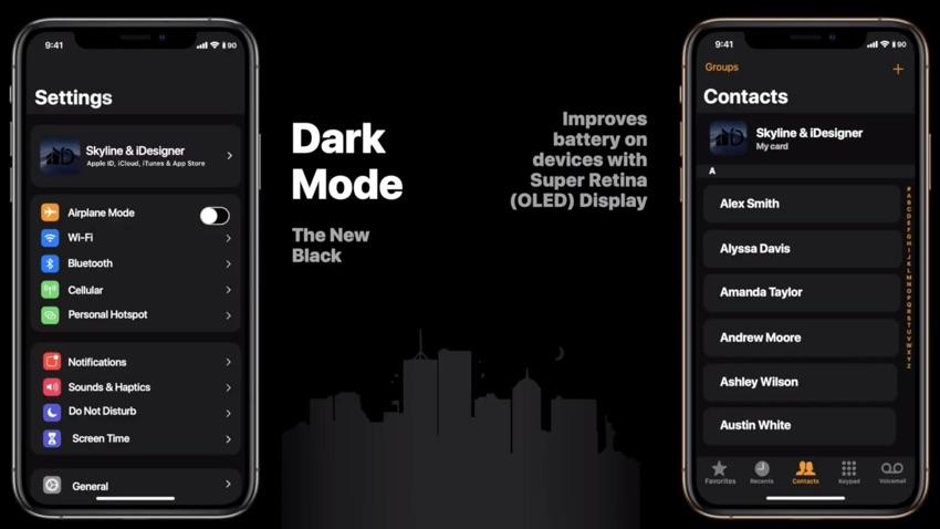 """Результат пошуку зображень за запитом """"iOS 13 Dark Mode"""""""