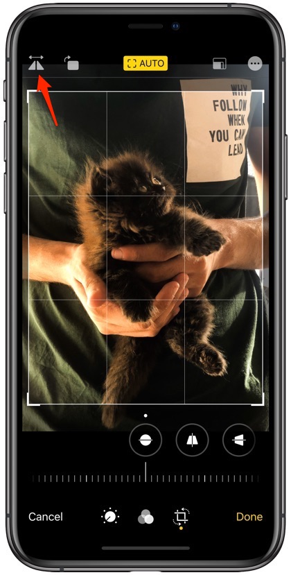 Flip photos on iPhone