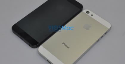 carcasa del iPhone 5, blanca y negra