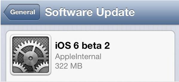 Enlaces de Descarga de iOS 6 Beta 2