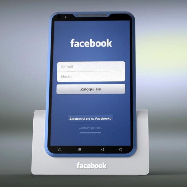Facebook Phone del diseñador Michal Bonikowski dock