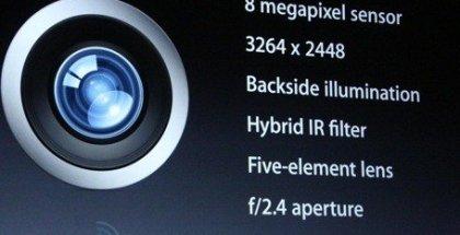 Características cámara iSight iPhone 5