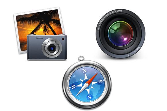 actualización de iPhoto, Safari y Aperture