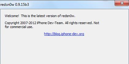 Redsn0w para jailbreak iOS 6.1 Beta 3