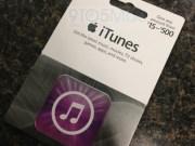 tarjetas regalo de iTunes
