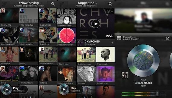 Twitter Music para iOS