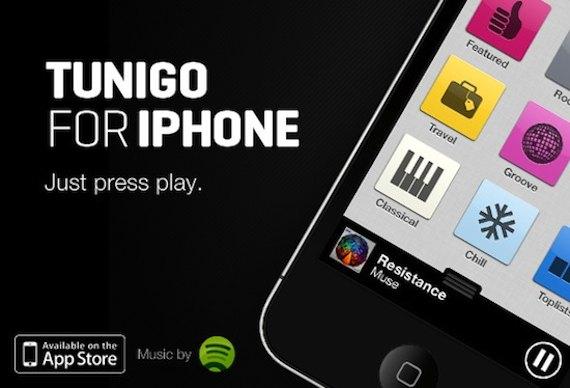 App de búsqueda musical Tunigo