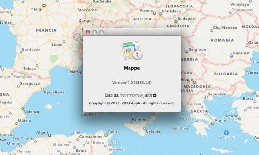 Mapas en OS X 10.9 Mavericks