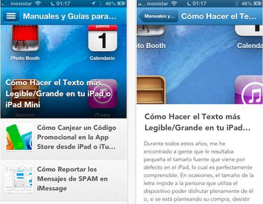 Manuales y Guias para iPad e iPad mini