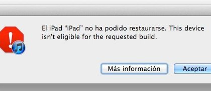 Error de restauración 3194