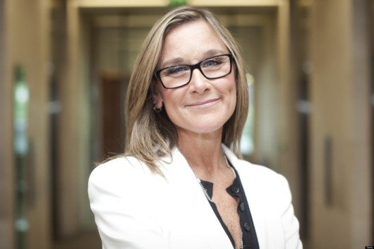 Angela Ahrendts-Burberry Group Plc CEO Angela Ahrendts At The London Stock Exchange