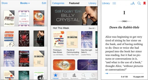 Apple rediseña iBook y iTunes U al estilo iOS7