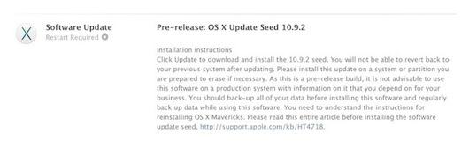 OS X 10.9.2 build 13C62