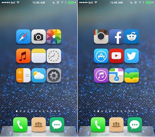 Temas Winterboard-iOS-8-Concept