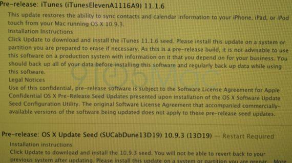 iTunes 11.1.6-OS X 10.9.3-pre-release