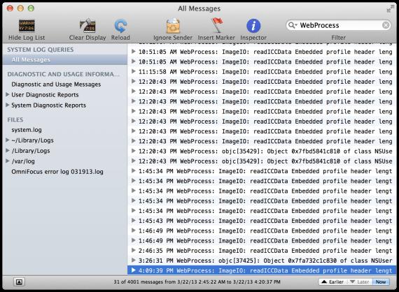 La Consola de Mac OS X
