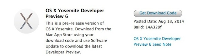 Developer Preview 6 de OS X Yosemite-iosmac