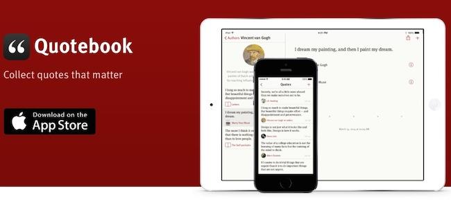 Quotebook, Almacena tus citas y las de tus Autores favoritos-iosmac