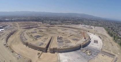 Vista aérea del Campus 2 de Apple