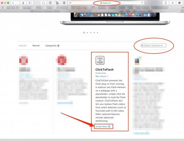 Apple Website extensions / Extensiones en Apple