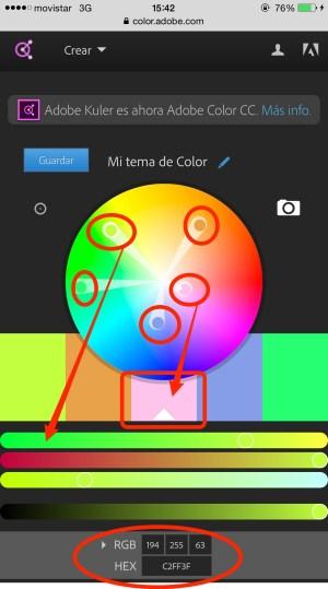 Kuler Main Interface - Herramienta Kuler