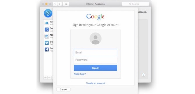 OS X 10.10.3 permite la verificación de 2 pasos en cuentas de google