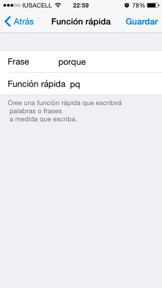 Atajos iPhone
