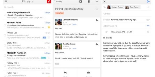 Gmail para iOS version 4.0