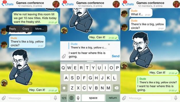 Réplicas directas en Telegram