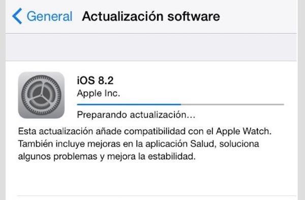 iOS 8.2 disponible desde hoy con soporte para el Apple Watch