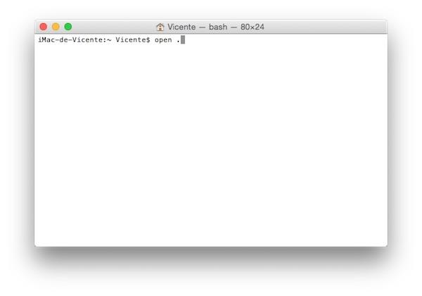 Abrir archivos y ventanas de Finder desde Terminal