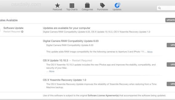 Nueva actualización de OS X 10.10.3 con nuevos emojis, correcciones de Wi-Fi y la nueva Aplicación de Fotos para Yosemite.