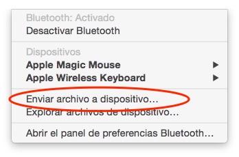 BlueTooth tiny icon contextual menu