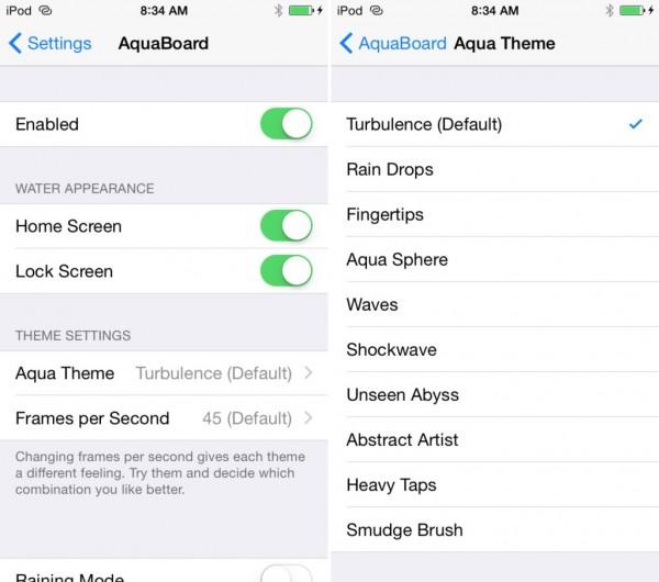 AquaBoard iOS 8