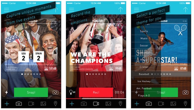 Uplause la app que te permitirá inmortalizar eventos en directo