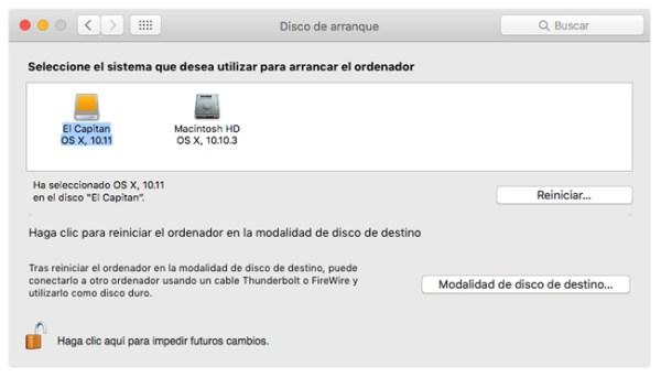 Seleccion unidad de arranque Mac