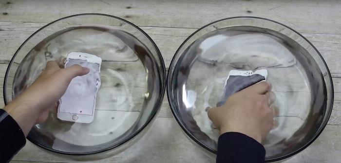 iPhone 6s sobreviviendo 1 hora bajo el agua