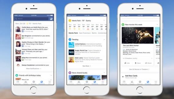 Facebook introduce notificaciones más útiles para móviles