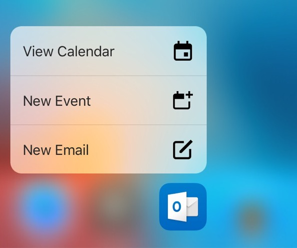 Outlook-iOS-3d-touch 1