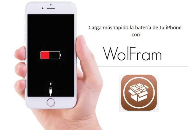 Wolfram: Tweak para cargar mas rápido la batería de tu iPhone